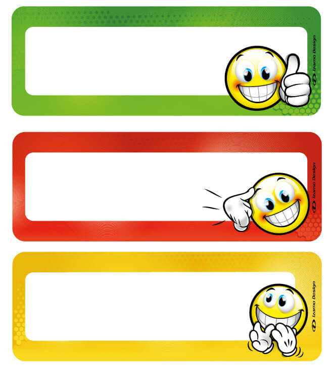 Elementary daily schedule – Blank labels
