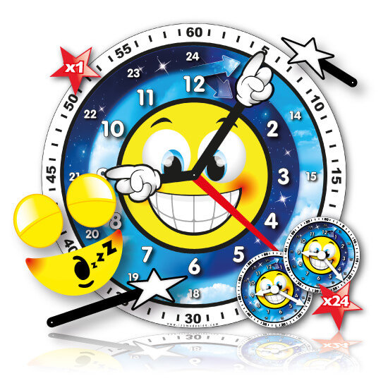 Teacher and children clock set
