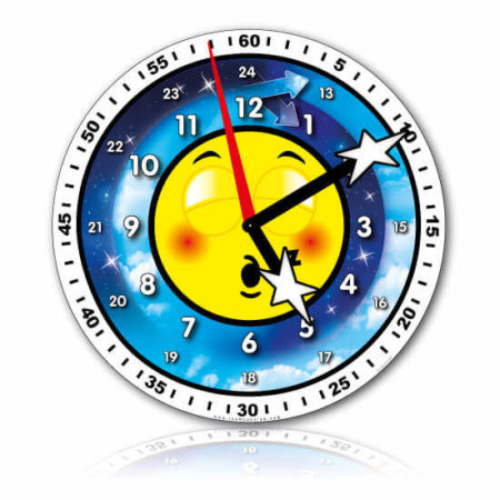 Grande horloge professeur nuit