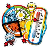 Roulette des saisons et thermomètre – Anglais