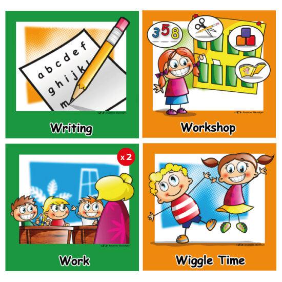 Preschool and 1st grade daily schedule