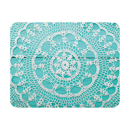 Adhesive mat and mouse pad – Lace