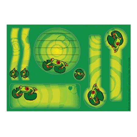 Etiquette autocollantes - Identification grenouille