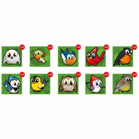 Arbre aux 100 oiseaux - oiseaux