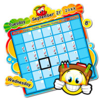 Magnetic school calendar