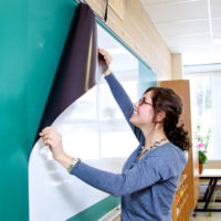 Dry erase projector screen