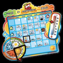 Magnetic school calendar