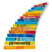 Adhesive Stair Riser Decals – Confidence Collection