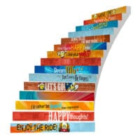 Adhesive Stair Riser Decals – Happiness Collection