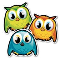 Identification Floor Decals – Owls
