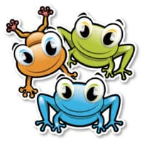Identification Floor Decals – Frogs