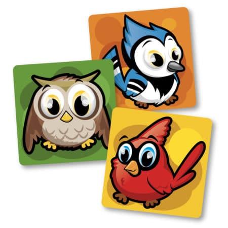 Autocollants identification plancher – Oiseaux