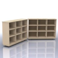 Hinged Storage Unit with 18 Compartments