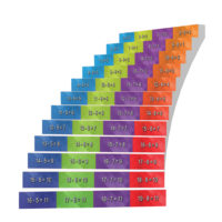 Adhesive Stair Riser Decals — Substractions Collection (5-8)