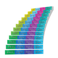 Adhesive Stair Riser Decals — Substractions Collection (9-12)