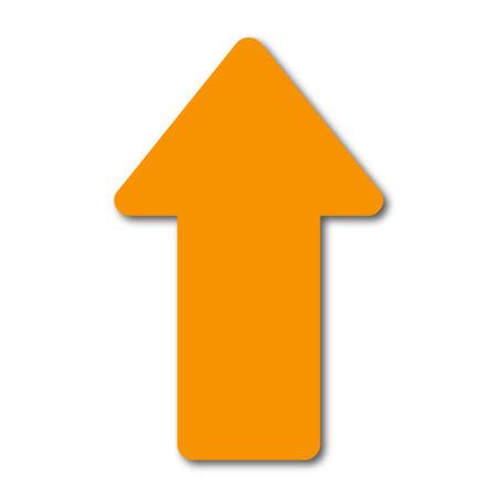 Autocollant plancher de distanciation sociale – Flèche jaune