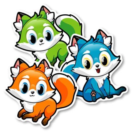 Identification Floor Decals –  Foxes