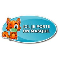 Wall Decal — Je porte un masque