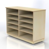 Storage Unit with 10 Compartments