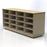 Storage Unit with 16 Compartments