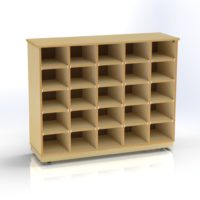 Storage Unit with 25 Compartments
