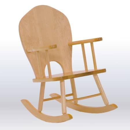 Chaise berçante avec dossier plein