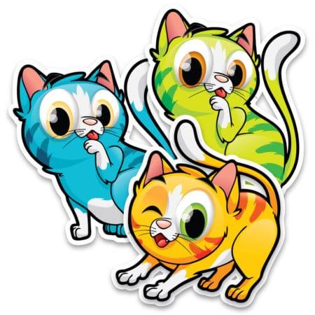 Autocollants d'identification pour le plancher – Chats