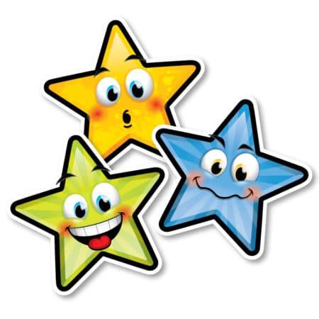 Autocollants d'identification pour le plancher – Étoiles