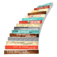 Adhesive Stair Riser Decals – Friendship Collection