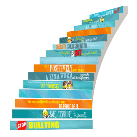 Adhesive Stair Riser Decals – Bullying Collection