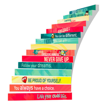 Adhesive Stair Riser Decals – Self-Esteem Collection