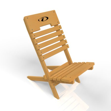Chaise de plage en érable
